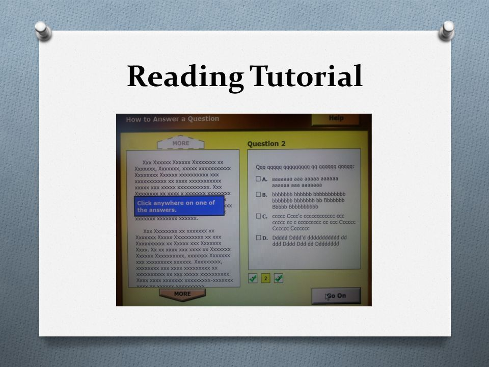 Reading Tutorial
