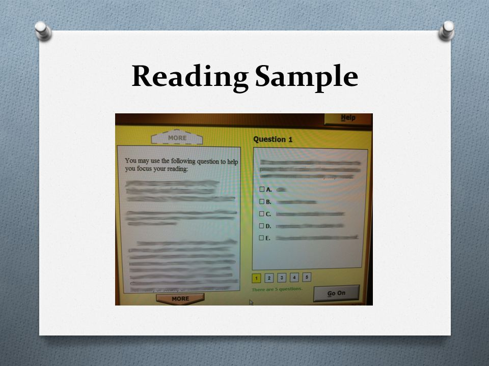 Reading Sample