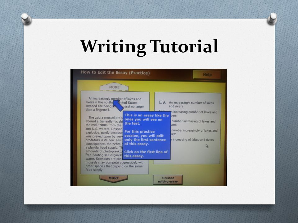 Writing Tutorial