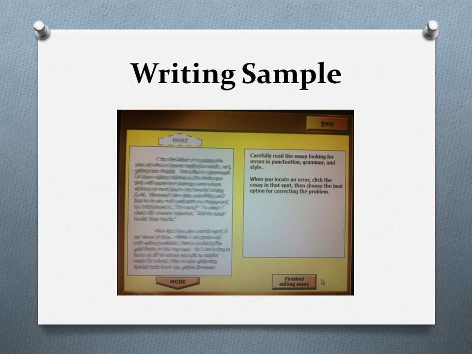 Writing Sample
