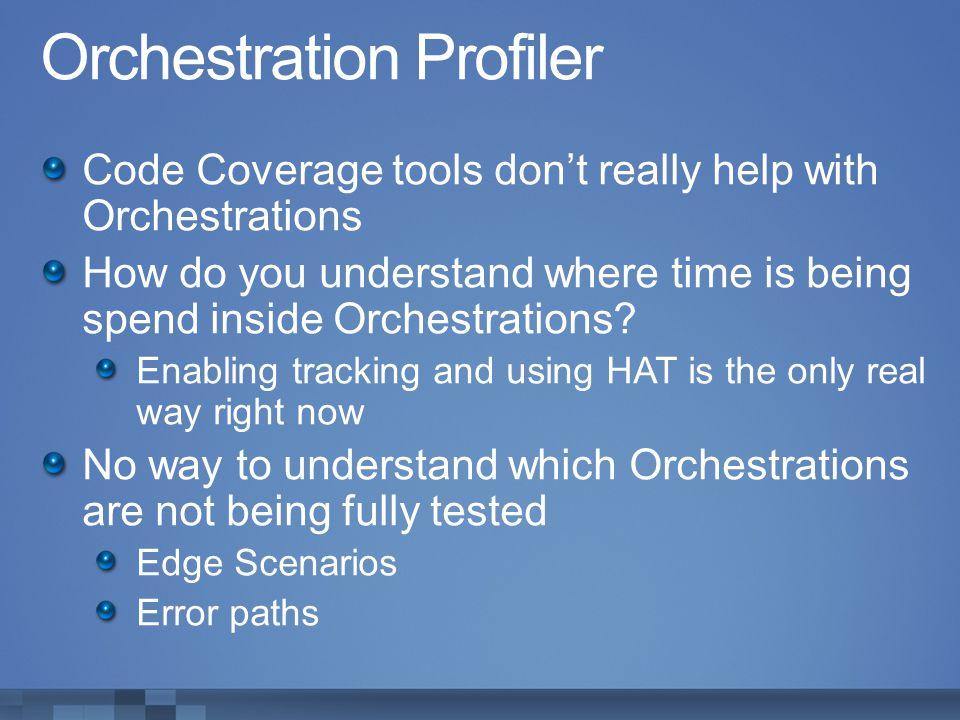 Orchestration Profiler