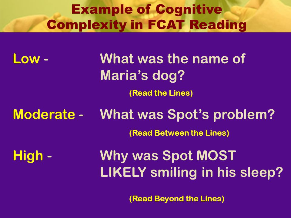Example of Cognitive Complexity in FCAT Reading