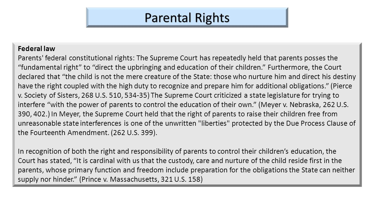 Parental Rights Federal law