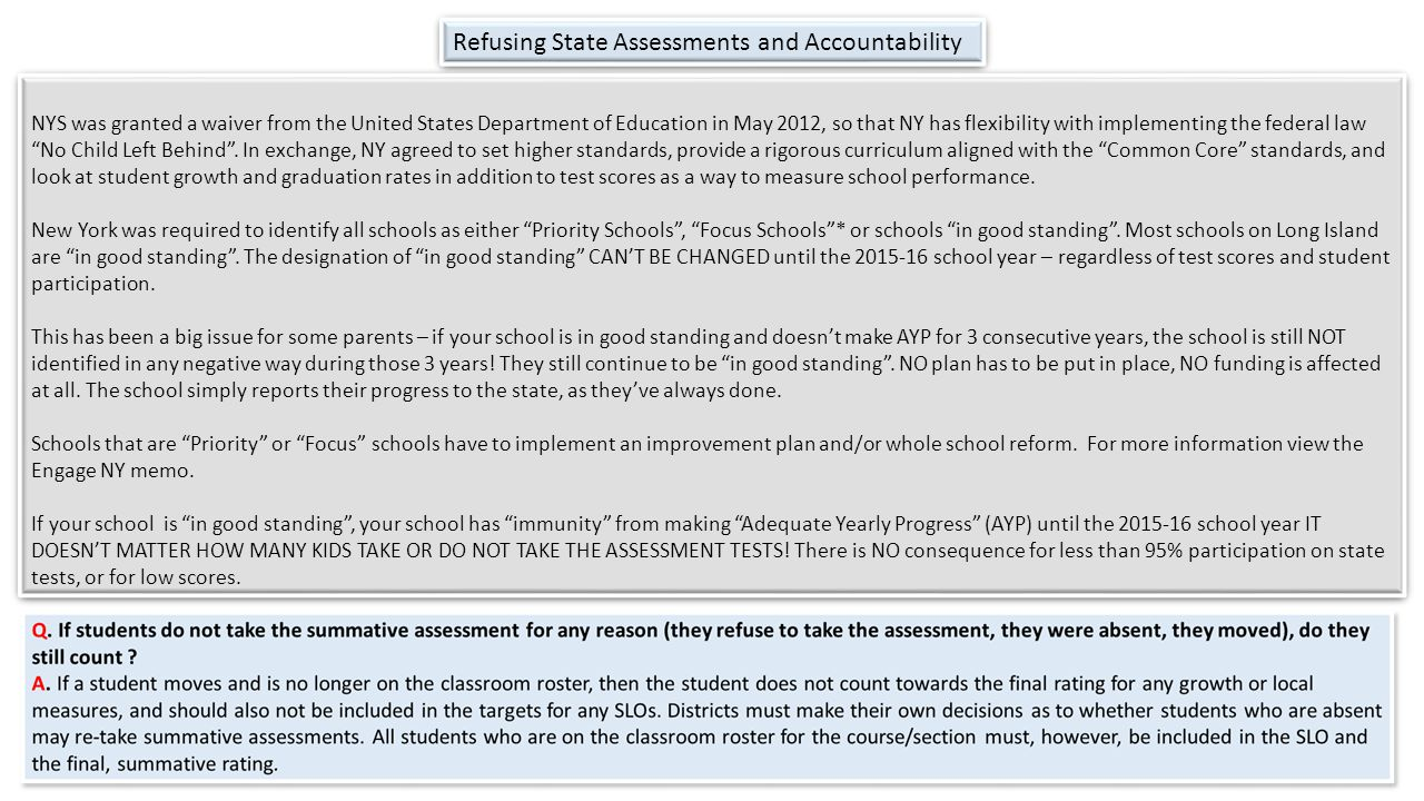 Refusing State Assessments and Accountability