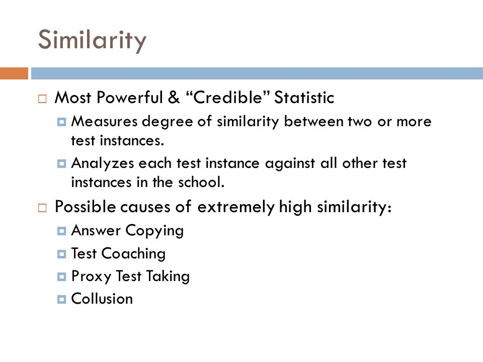 Similarity Most Powerful & Credible Statistic