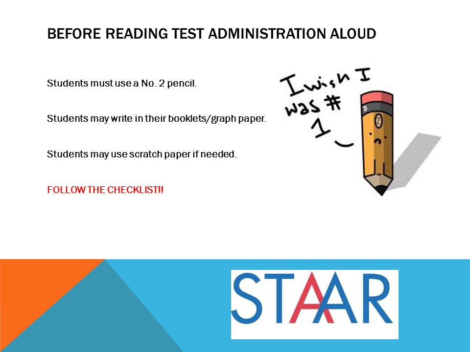 Before reading test administration aloud