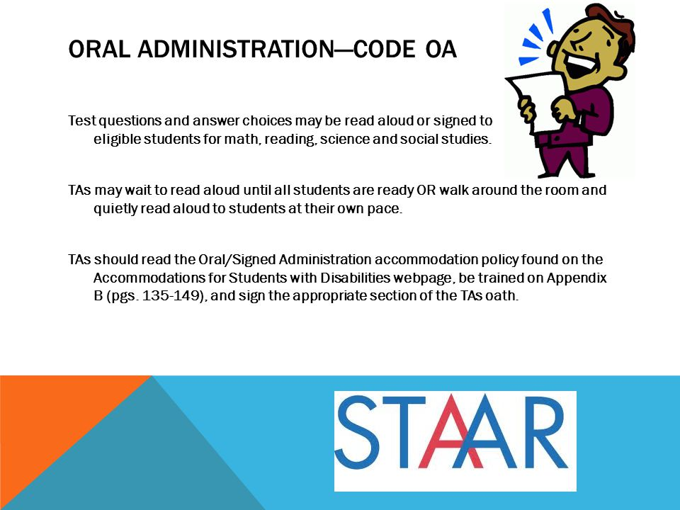 Oral Administration—Code OA