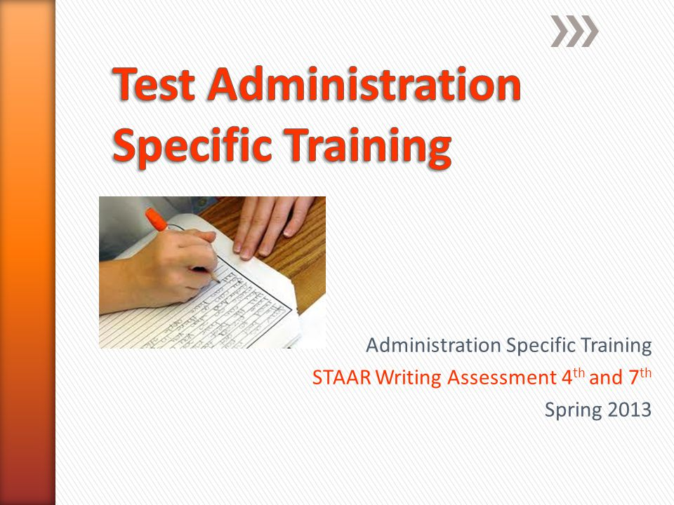 Test Administration Specific Training