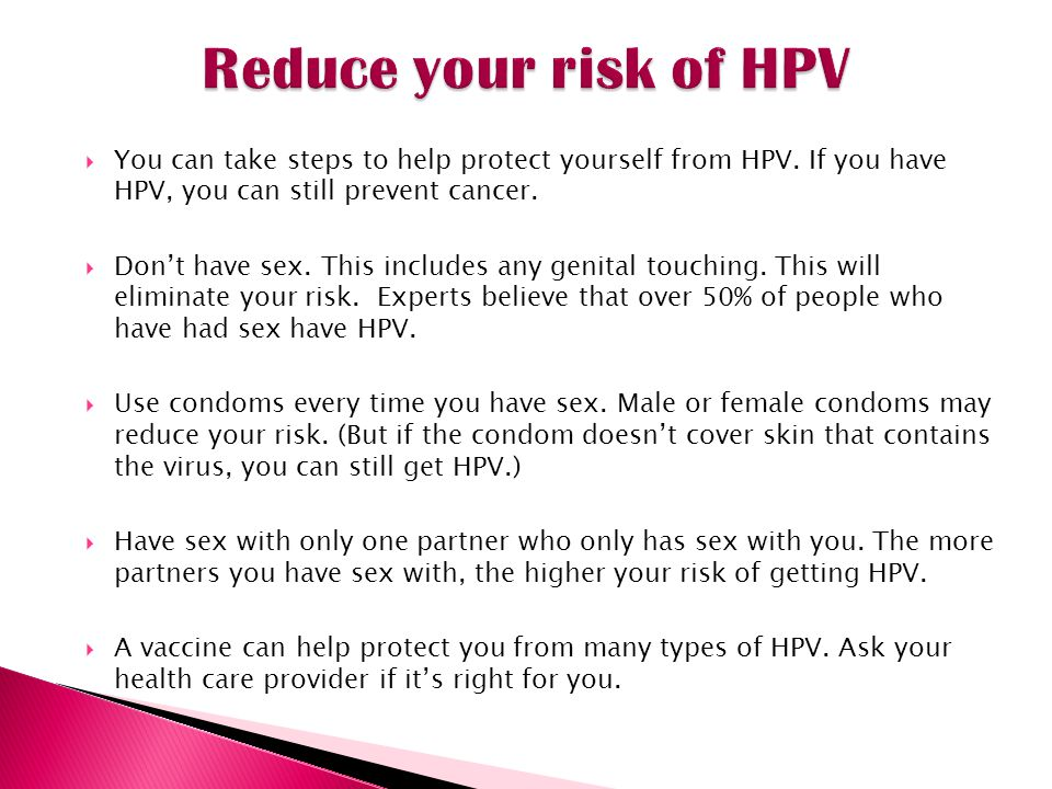 Can i have sex with hpv