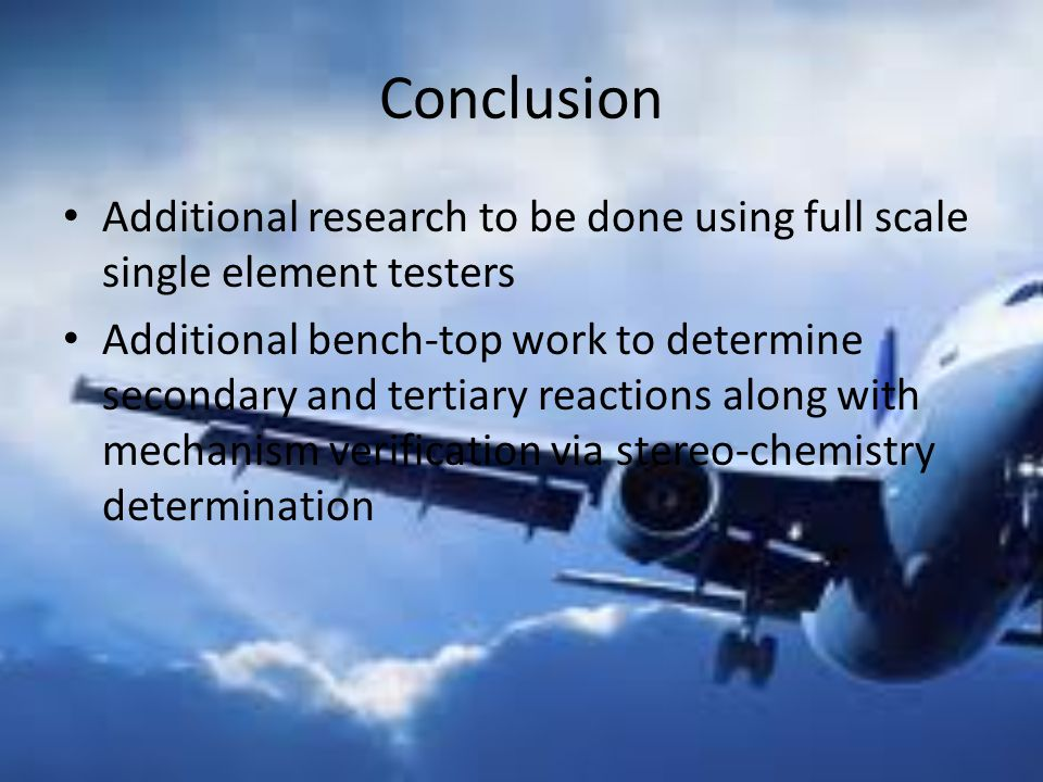 Conclusion Additional research to be done using full scale single element testers.