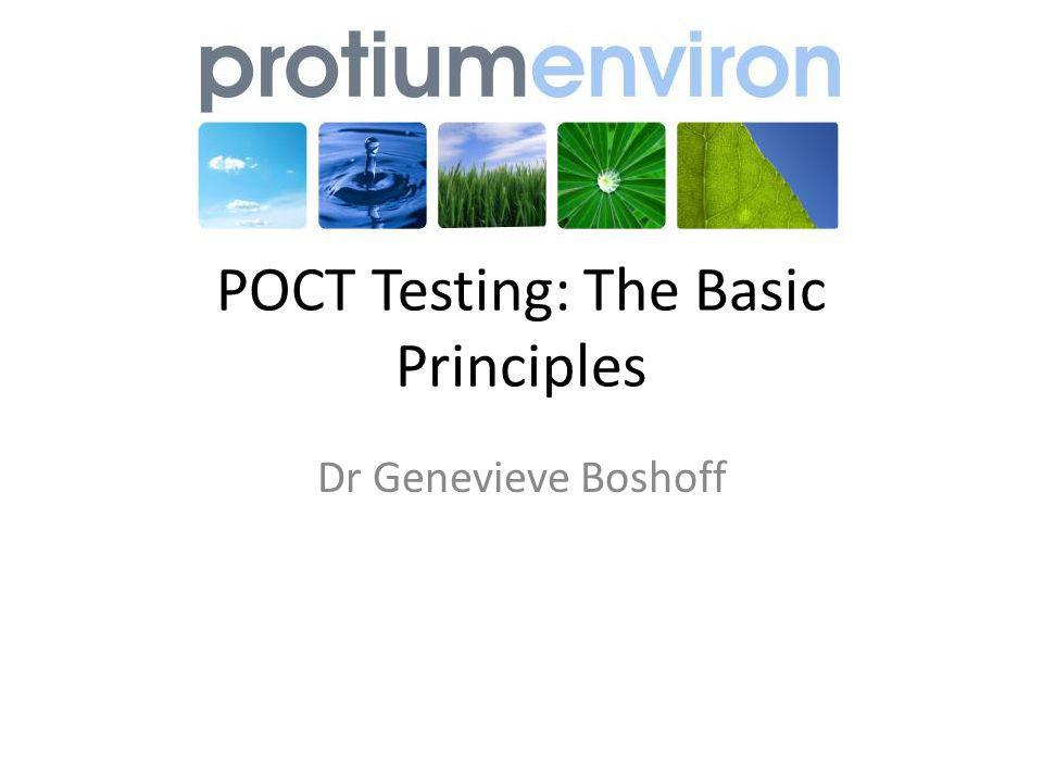 POCT Testing: The Basic Principles