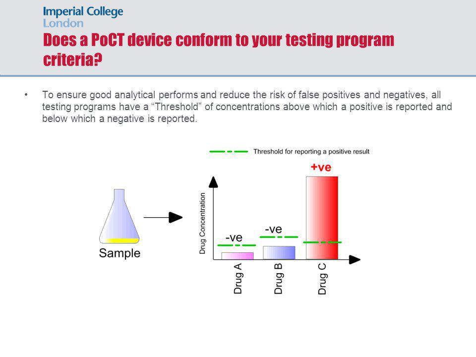 Does a PoCT device conform to your testing program criteria