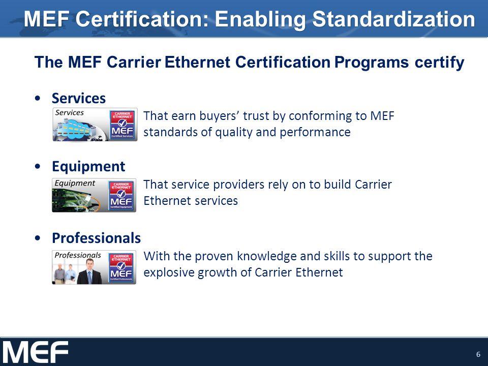 Mef Certification Programs Ppt Download