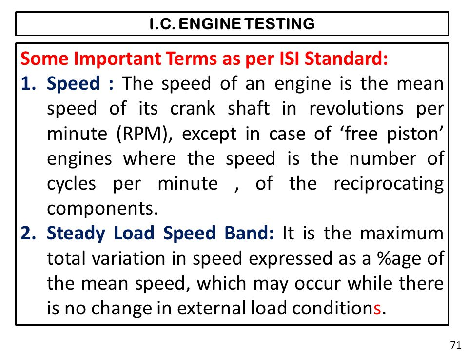 Some Important Terms as per ISI Standard: