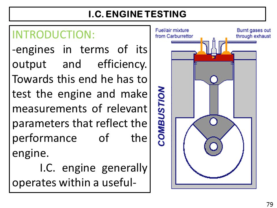 I.C. engine generally operates within a useful-
