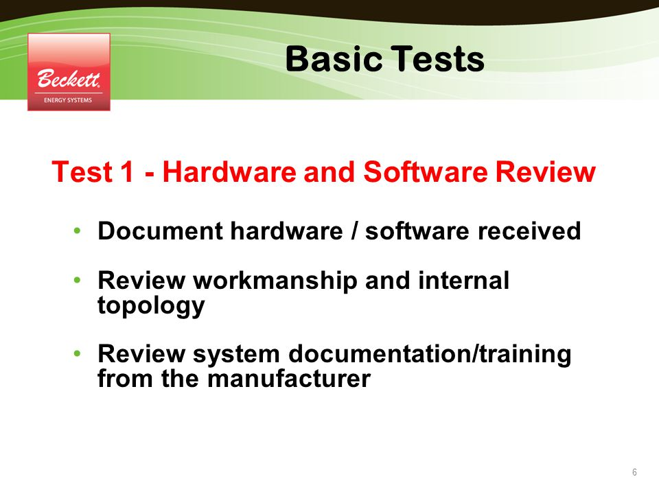 Test 1 - Hardware and Software Review