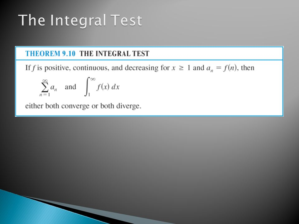 The Integral Test