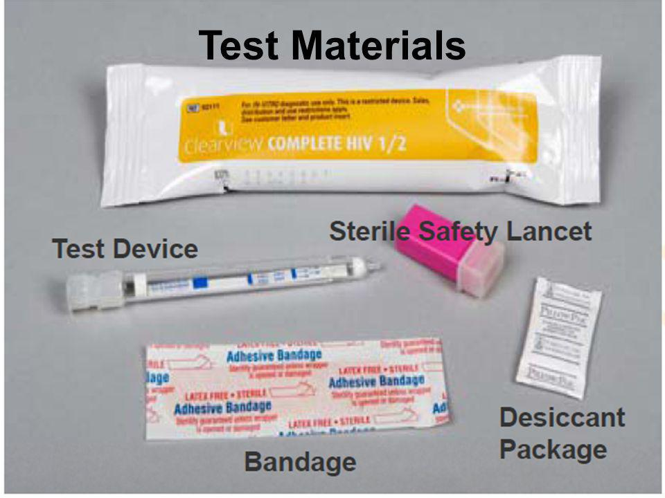Test Materials Purpose / Objectives of Slide: Gathering Test Kit Materials.
