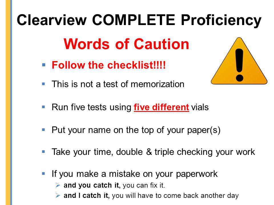 Clearview COMPLETE Proficiency
