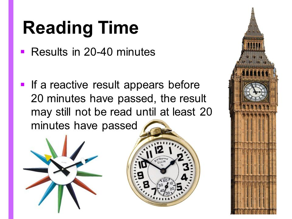 Reading Time Results in 20-40 minutes