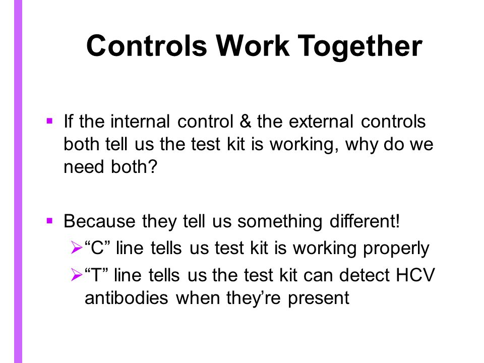 Controls Work Together