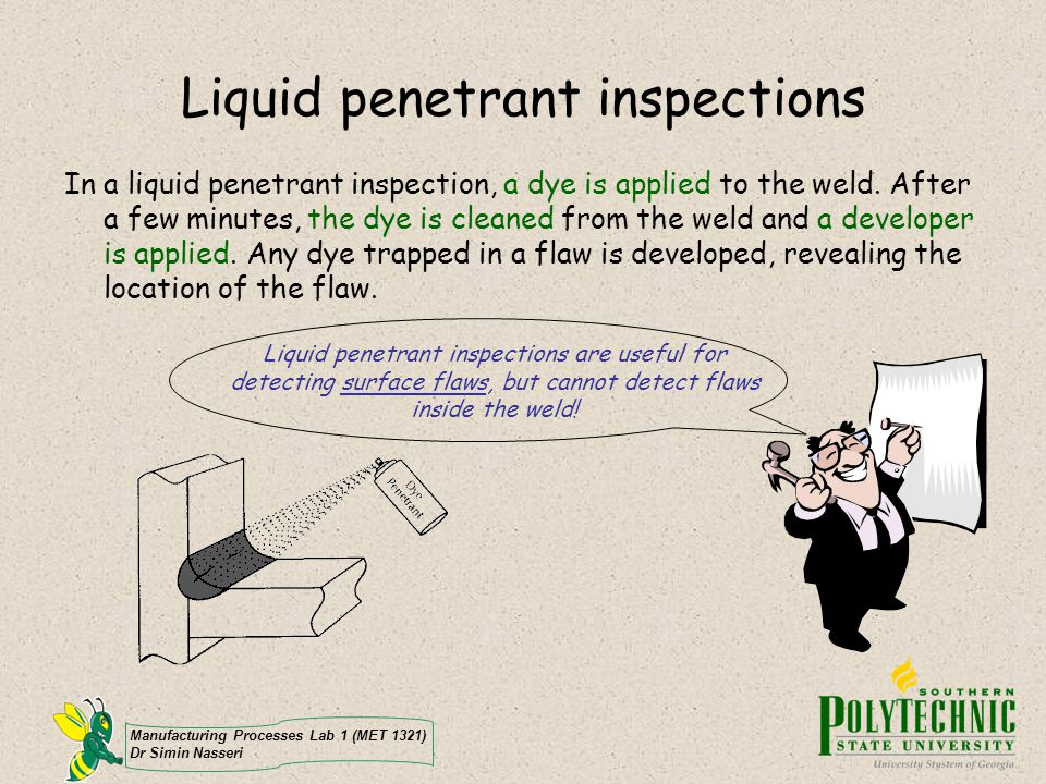 Liquid penetrant inspections