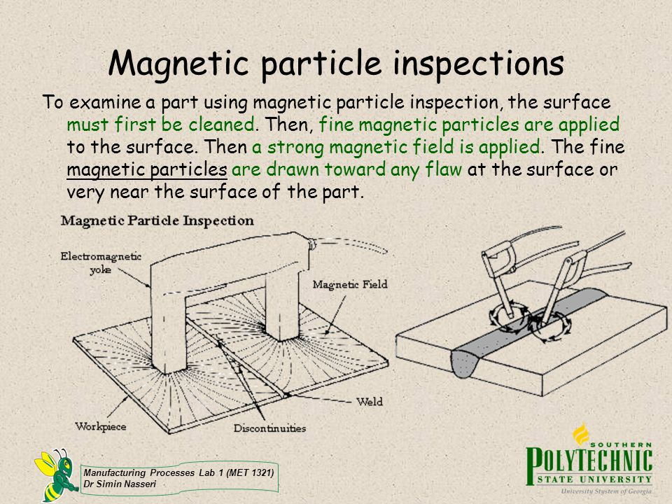 Magnetic particle inspections