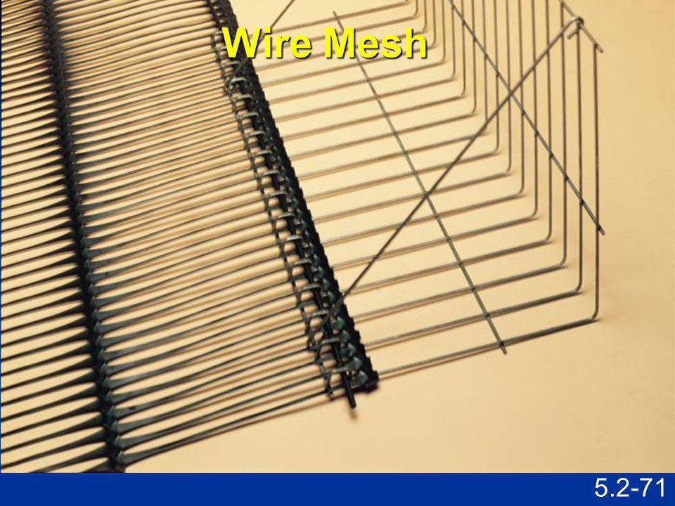 Wire Mesh Speaking Points Assembled connection shown in previous slide