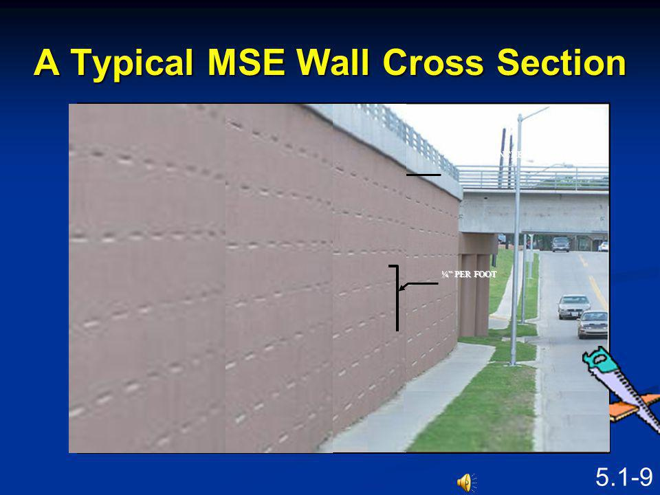 A Typical MSE Wall Cross Section
