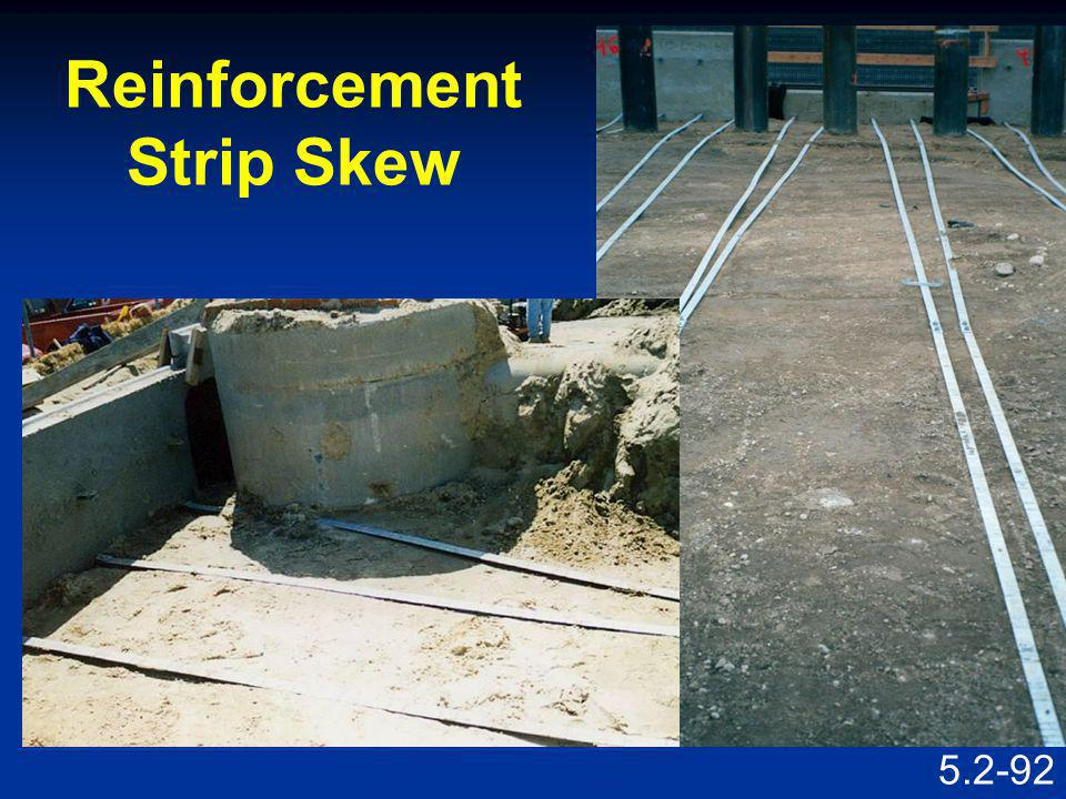 Reinforcement Strip Skew