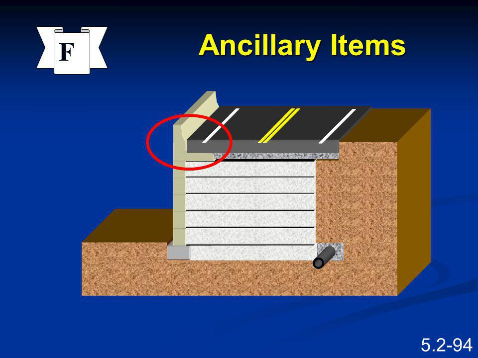 Ancillary Items F Barrier Facing Reinforcing Excavation