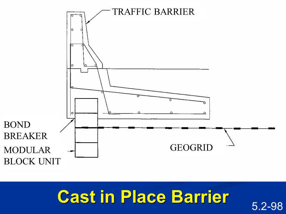 Cast in Place Barrier TRAFFIC BARRIER BOND BREAKER GEOGRID