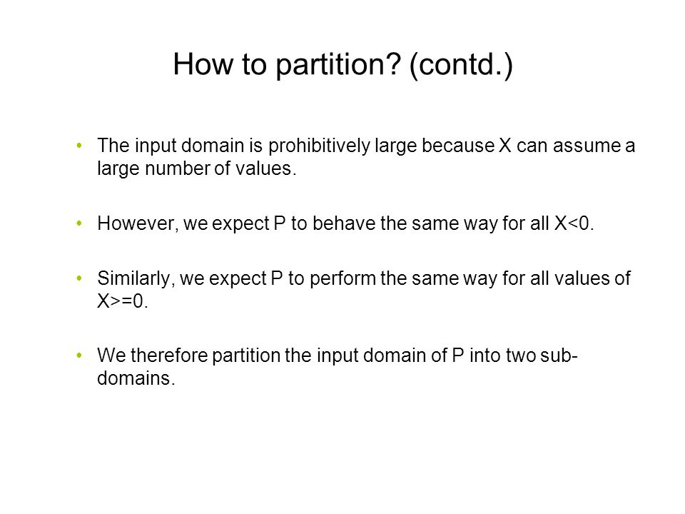 How to partition (contd.)