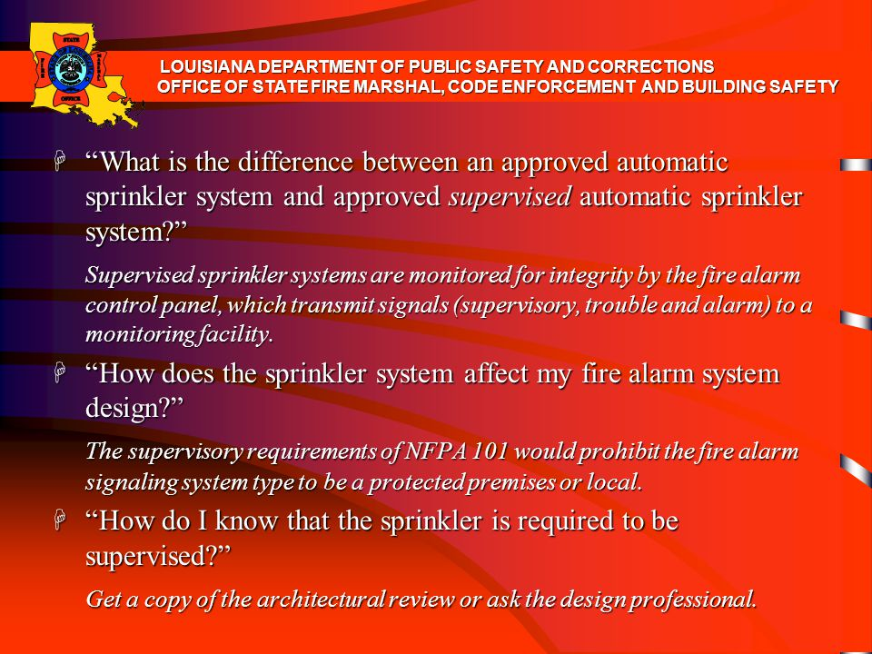 How does the sprinkler system affect my fire alarm system design
