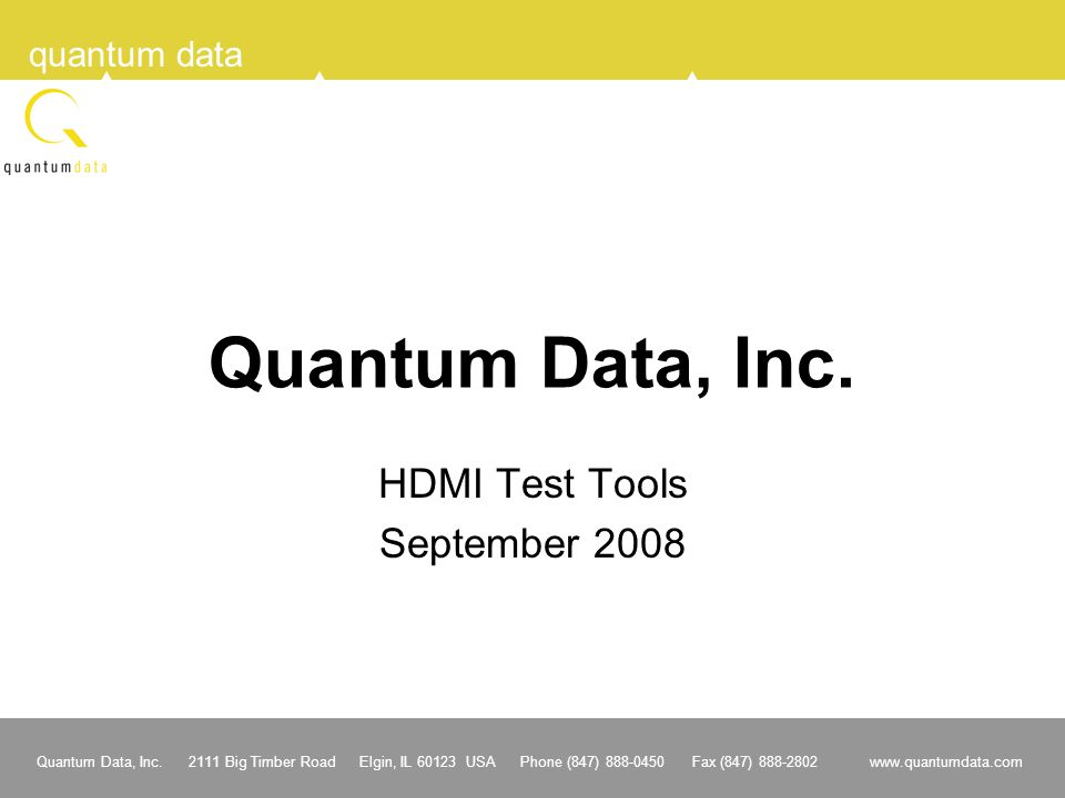 HDMI Test Tools September 2008