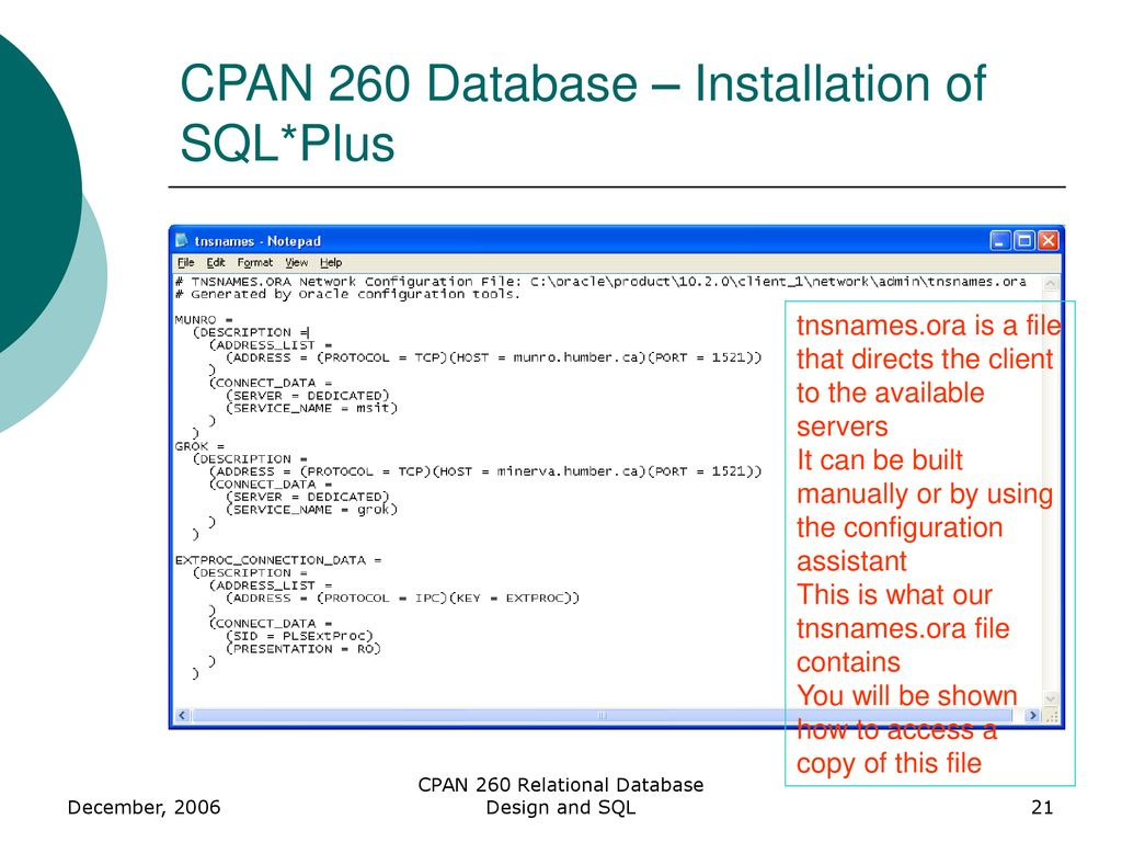 CPAN 260 Relational Database Design and SQL - ppt download