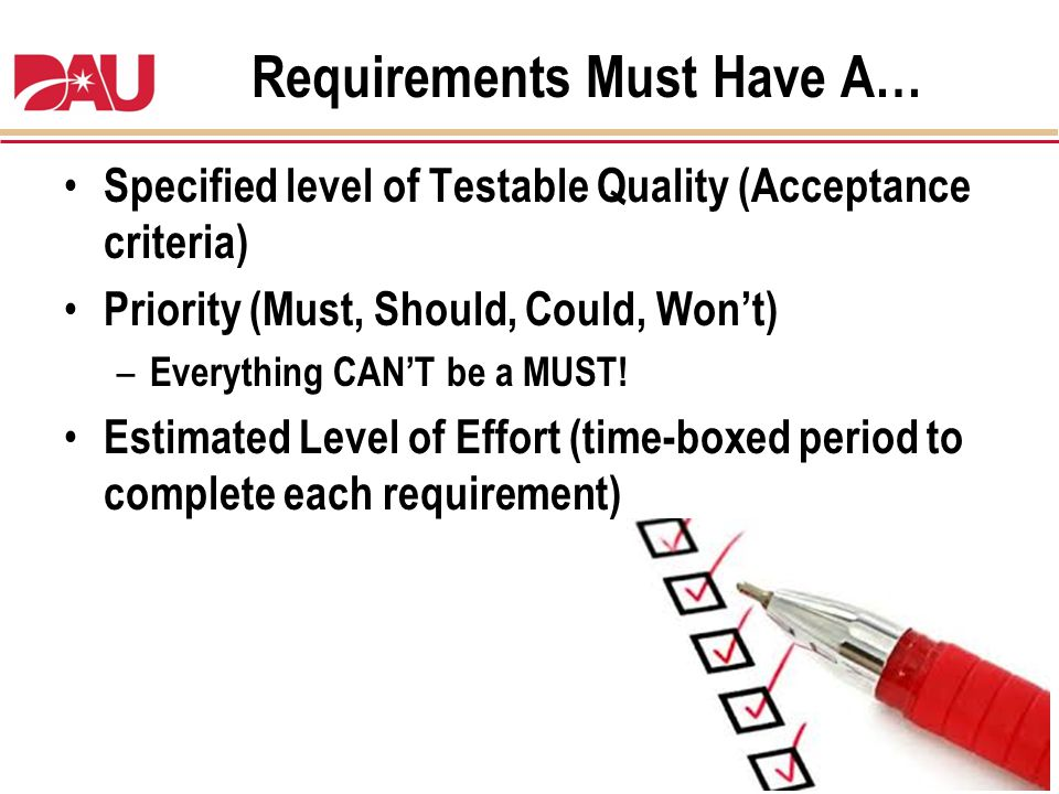 Requirements Must Have A…