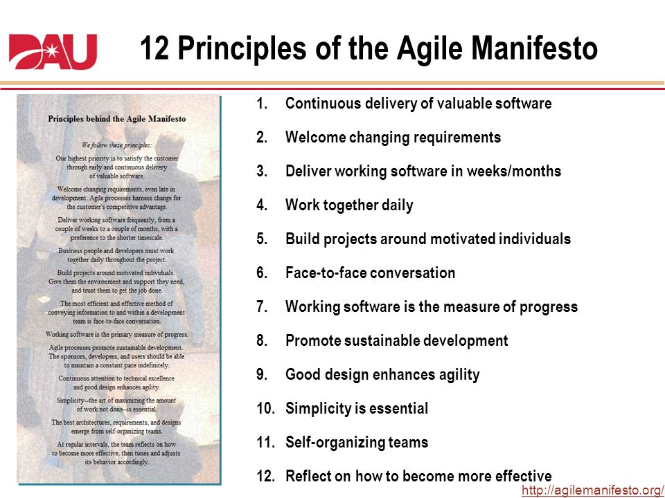 12 Principles of the Agile Manifesto