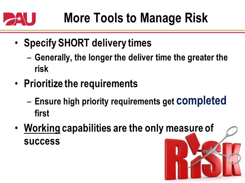 More Tools to Manage Risk
