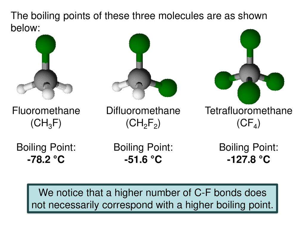 How Would You Rank The Boiling Points Of The Three Molecules Ppt Download
