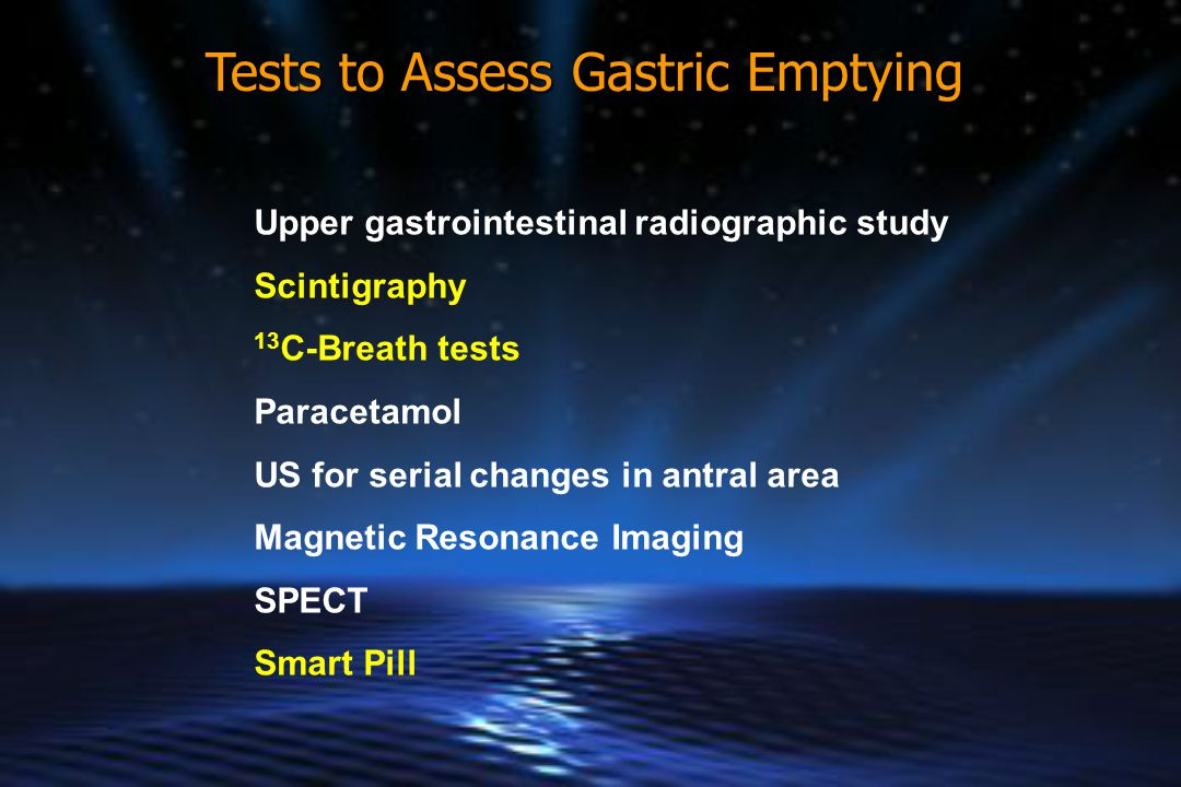 Tests to Assess Gastric Emptying