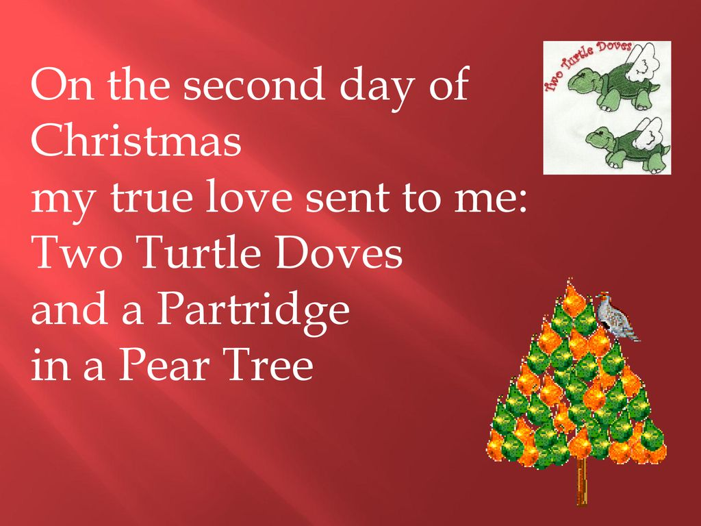 Second Day Of Christmas.12 Days Of Christmas Ppt Download
