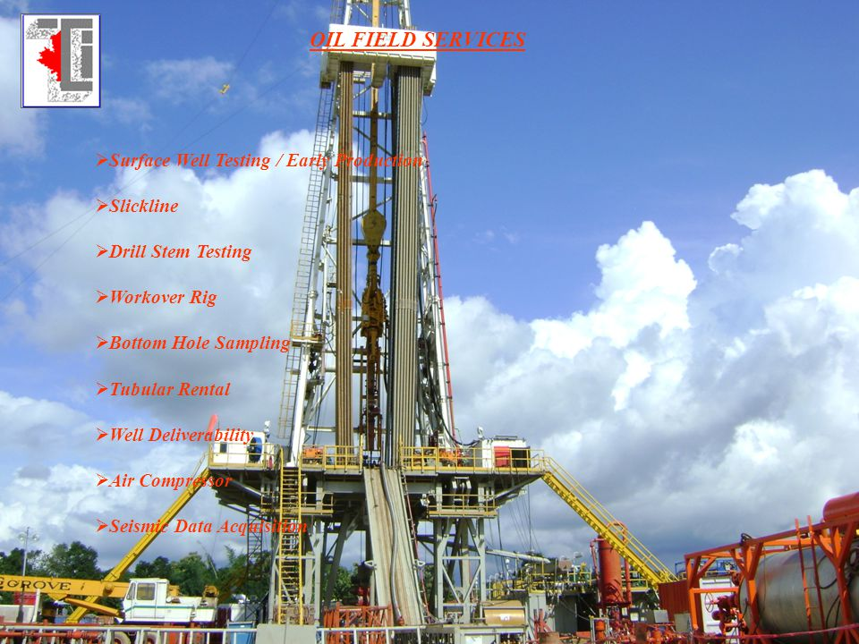 OIL FIELD SERVICES Surface Well Testing / Early Production Slickline