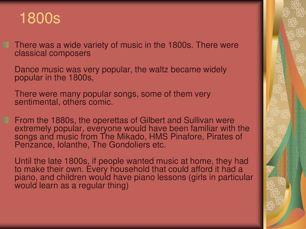 Evolution of Music 11th century 1600s 1800s … ppt download