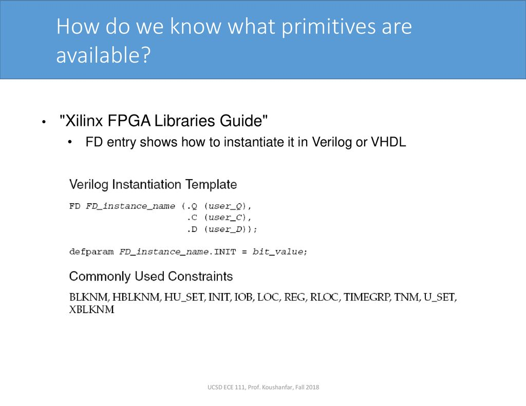 Lecture 11: Control/Synthesis of Memories in FPGA - ppt download