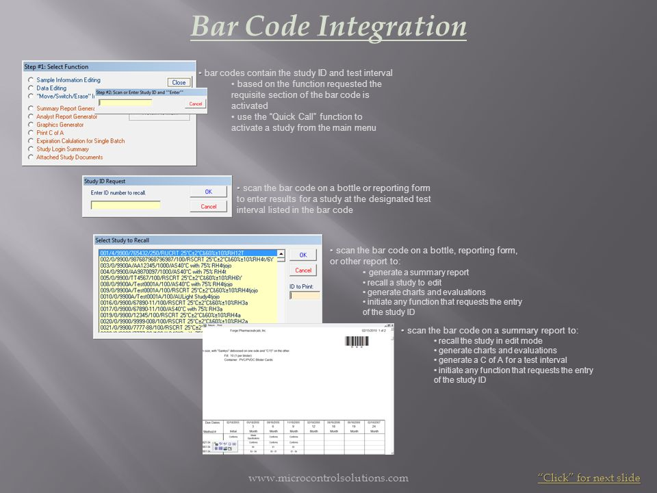Bar Code Integration www.microcontrolsolutions.com