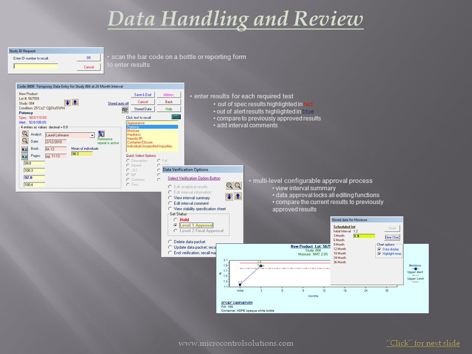 Data Handling and Review