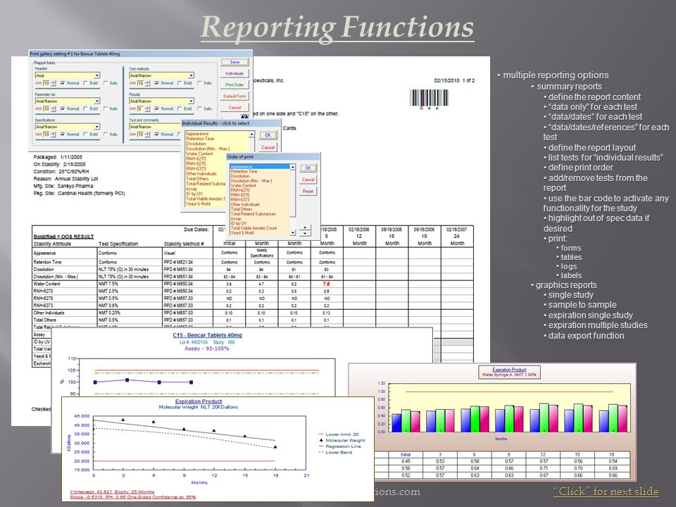 Reporting Functions www.microcontrolsolutions.com