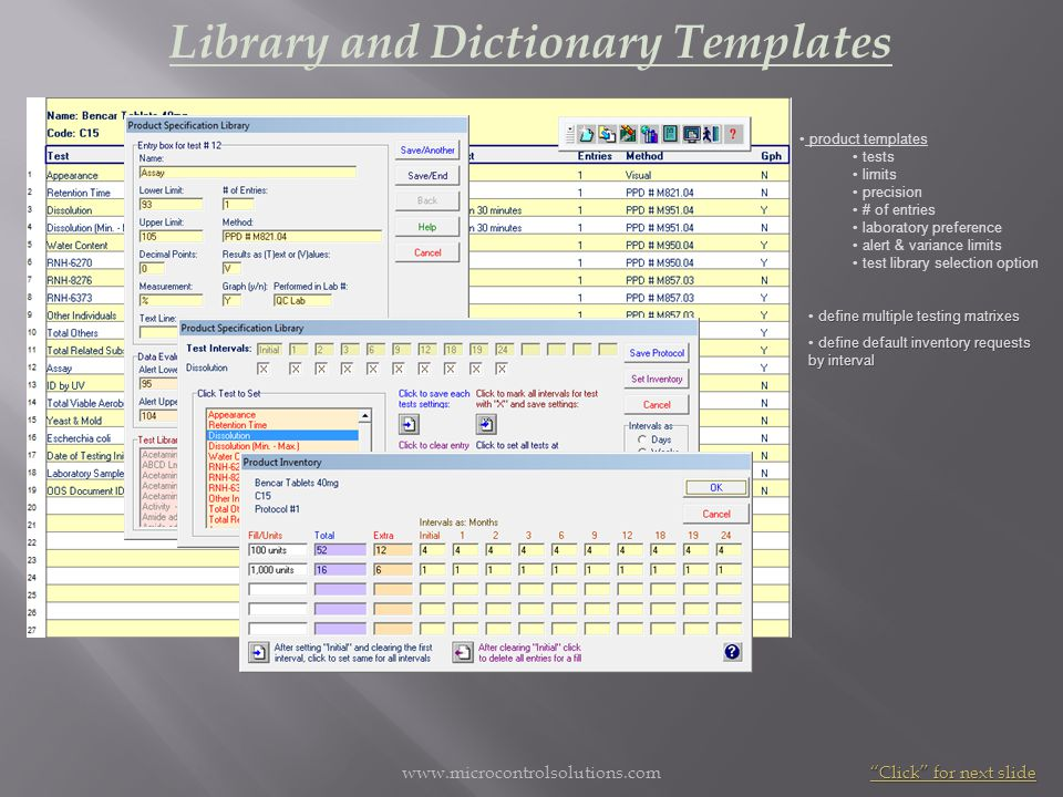 Library and Dictionary Templates