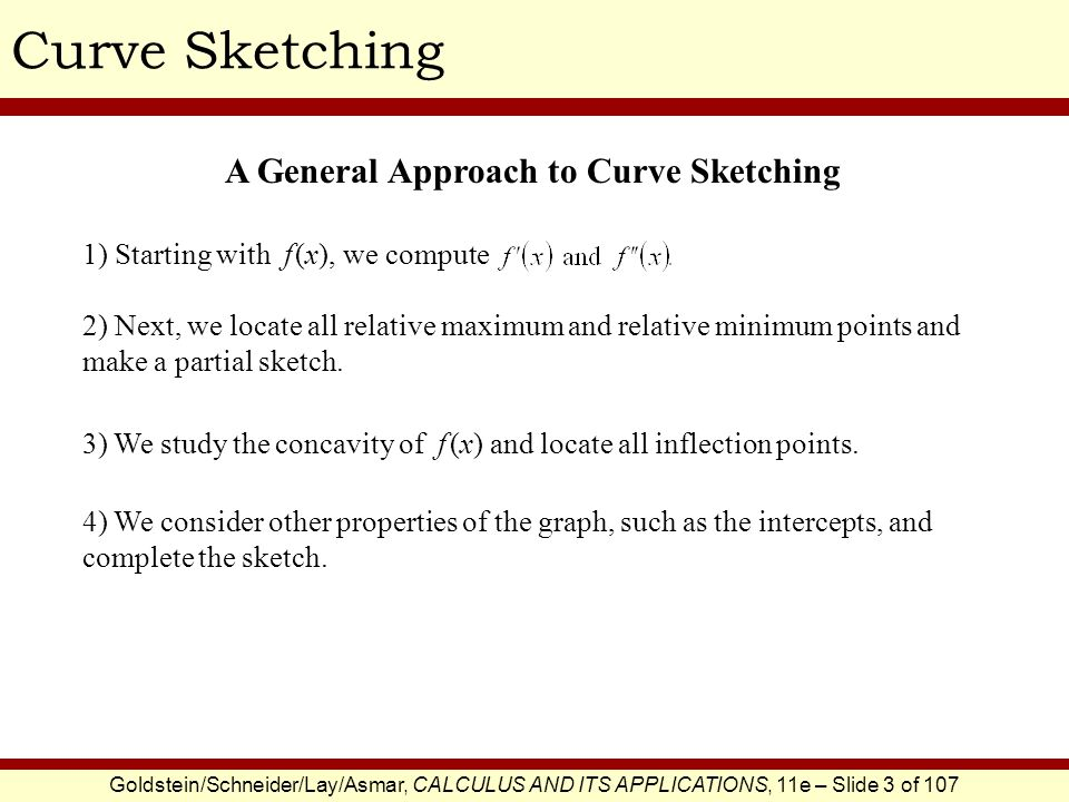 Curve Sketching A General Approach to Curve Sketching